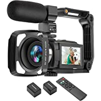 ZUODUN 4K Camcorder 60FPS Ultra HD Vlogging Video Camera for YouTube 48MP 16X Digital Zoom IR Night Vision WiFi Vlog…