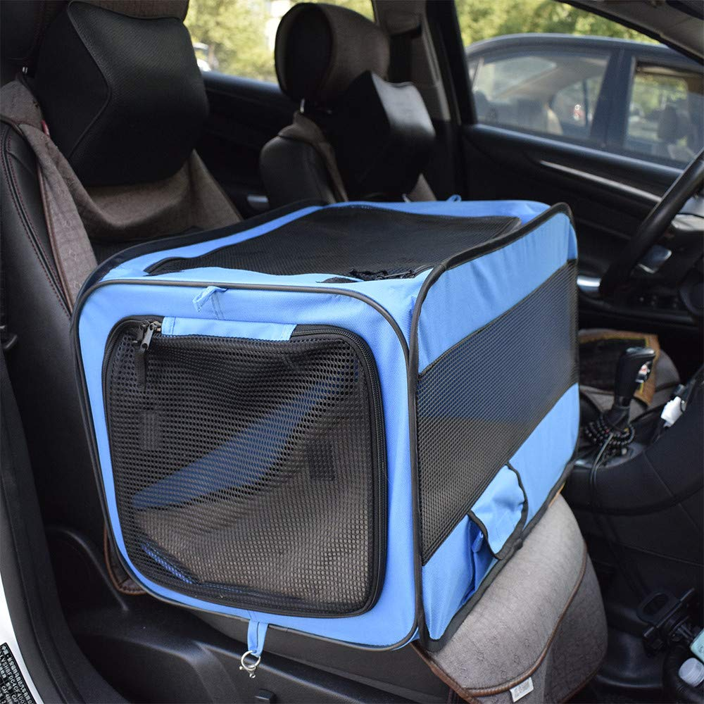 QZQWQNA Dog Handbag Carrier Car Seat for Pet Soft-Sided Oxford Cloth Two Side Expansion Foldable Large Space for Cats Dogs Travel Kennel