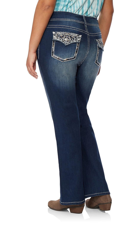 WallFlower Plus Size Luscious Curvy Bling Bootcut Jeans WFM07973P