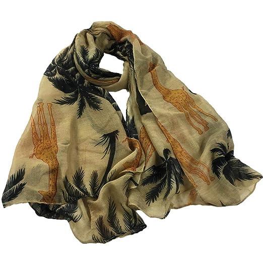 HUHU833 Écharpes châle foulards Femmes mode impression girafe longue  écharpe châle Automne Hiver (Bleu foncé)  Amazon.fr  Vêtements et  accessoires 1fd6a8fc7d8