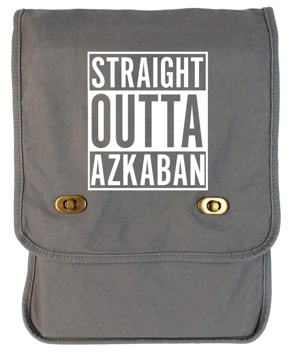 Tenacitee Straight Outta Azkaban Grey Brushed Canvas Messenger Bag