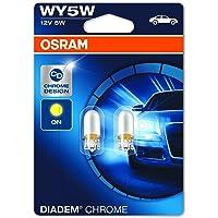 OSRAM 2827DC-02B DIADEM Chrome, WY5W, halogeen signaallamp, dubbele blister (2 lampen)