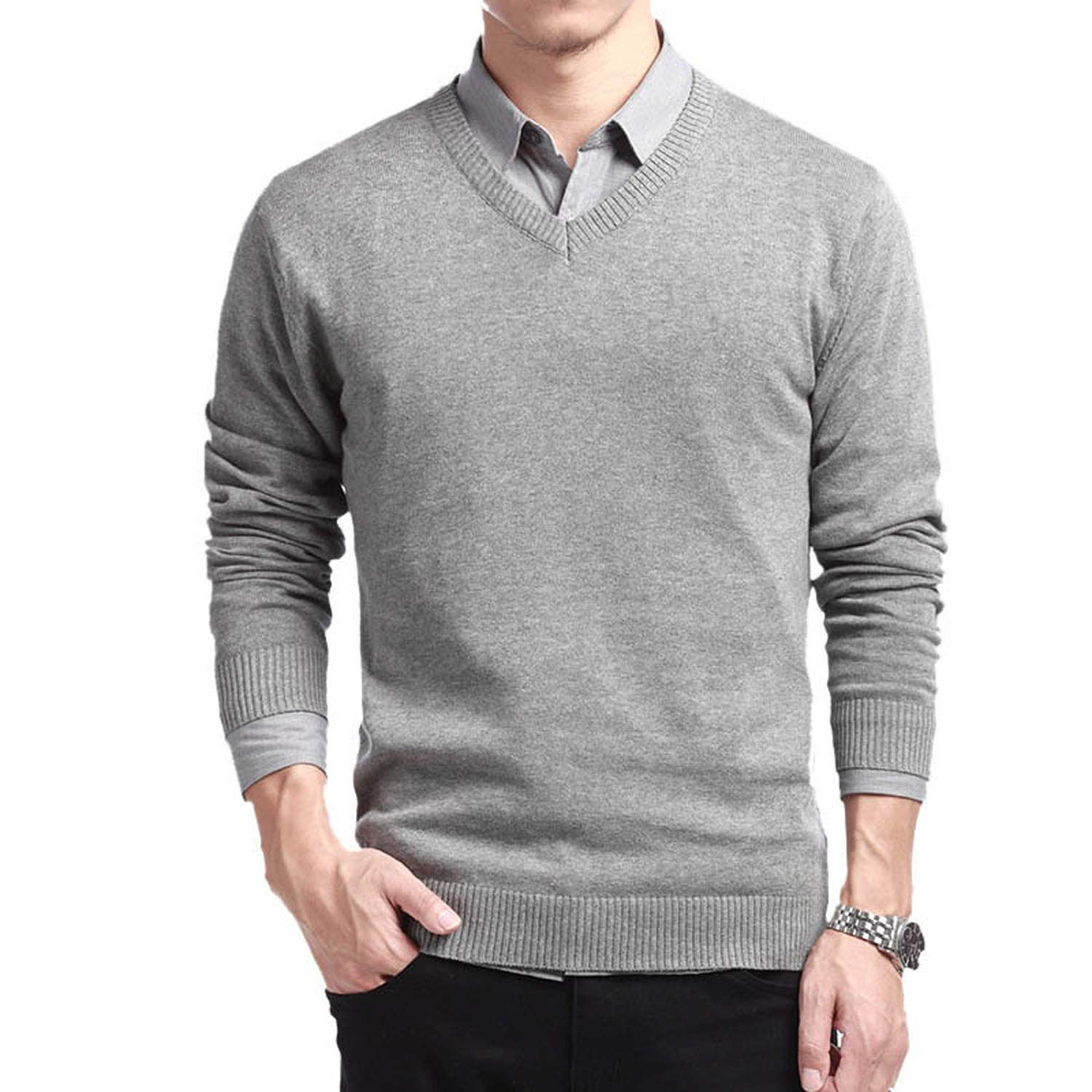 PANEW NewSweater Men Slim Fit Mens Sweaters Male Autumn Fashion Casual Tops Hots