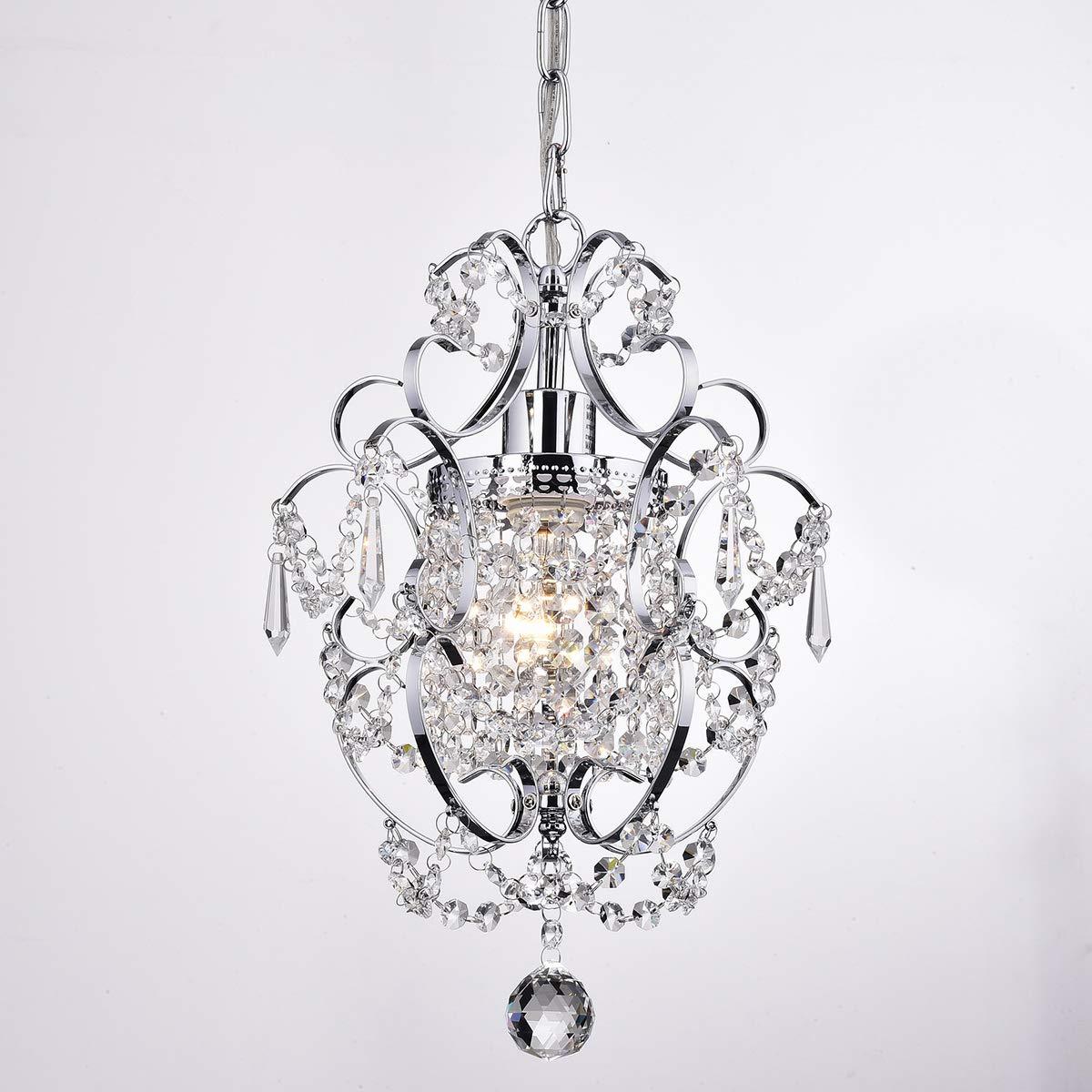 Edvivi Amorette 1-Light Chrome Finish Mini Pendant Chandelier Wrought Iron Ceiling Light Fixture | Glam Lighting by Edvivi (Image #4)