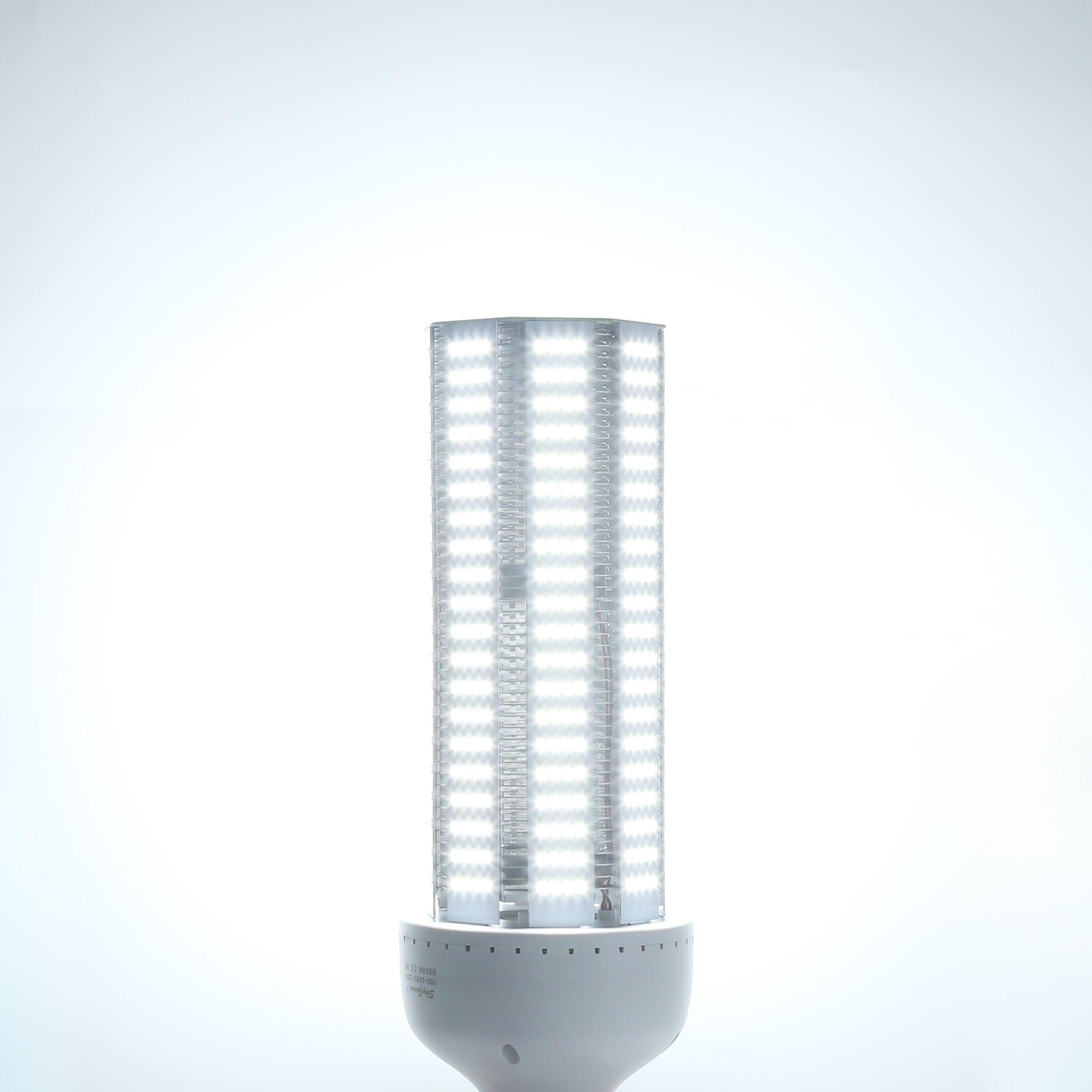 80W LED Corn Light Bulb(E39 Mogul Base)8000Lm 6500K Cool White,for Metal Halide HPS HID Replacement Garage Parking Lot High Bay Warehouse Street Lamp Lighting