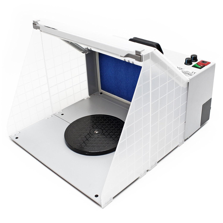 Airbrush accesorios estació n de aspiració n iluminada 4 m³ /min filtro niebla de pintura WilTec