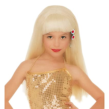 Peluca infantil pelo sintético rubio niño Naomi: Amazon.es ...