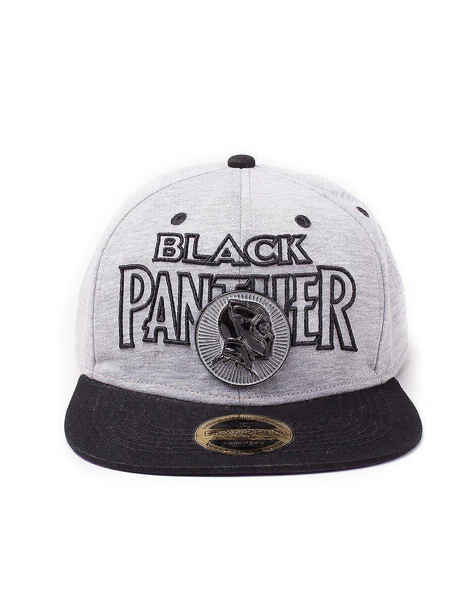 Marvel Sombrero Oficial de Gorra Snapback Comics Black Panther ...