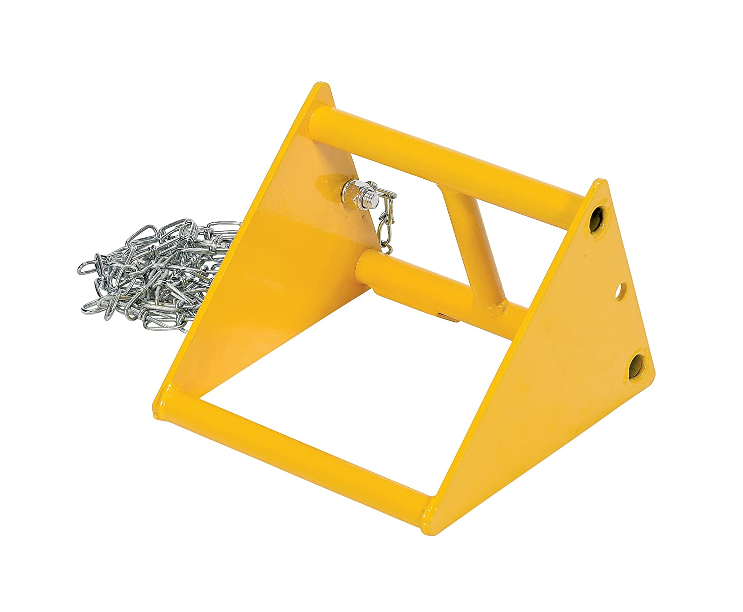 Overall W x L x H Vestil FAB-10 Fabricated Steel Wheel Chock in. 9-13//16 x 9-15//16 x 8-1//4 Vestil Manufacturing Corp