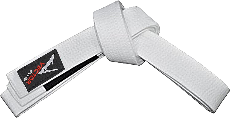 Vector Sports in 100/% Cotone BJJ Cintura da Bambini per Jiu Jitsu Brasiliano