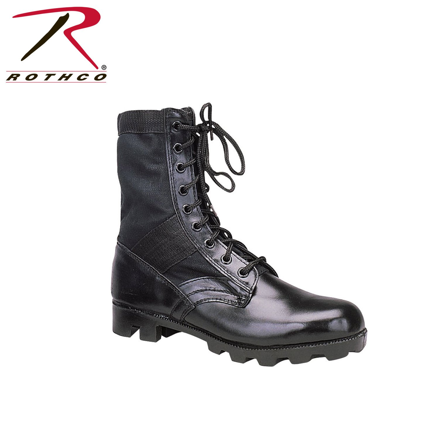 Rothco 8'' GI Type Jungle Boot, Black, 10
