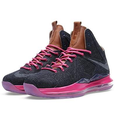 f66f0160b3e Nike Lebron X EXT Denim QS Men s Shoes Midnight Navy Hazlenut-Fireberry  597806-