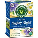 Traditional Medicinals Organic Nighty Night Tea Relaxation Tea, 16 Tea Bags (Pack of 6)