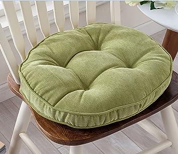 thicken round seat cushions sofa chair pillow cushion chair pads green