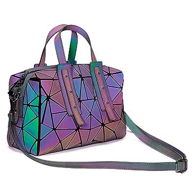 Amazon.com: Bolsas holográficas geométricas luminosas ...