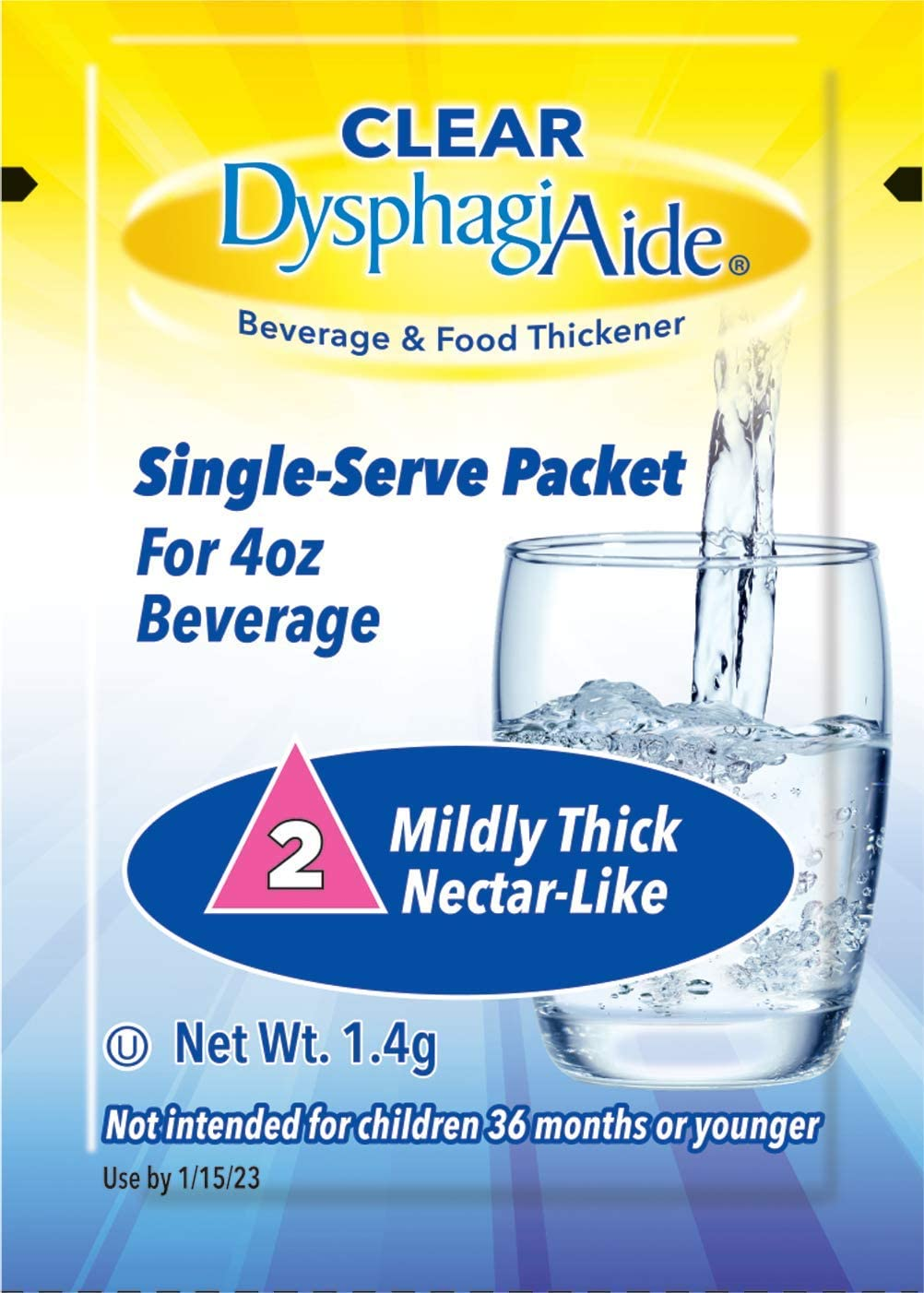 Clear DysphagiAide® Instant Beverage and Food Thickener Packets, 24 Count, Level 2-Nectar Thick