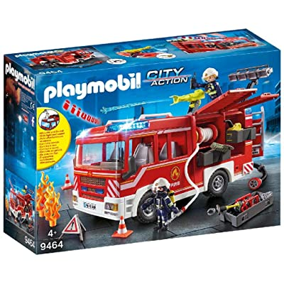 PLAYMOBIL Fire Engine: Toys & Games