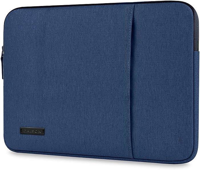 "CAISON 14 inch Laptop Sleeve Case for 14"" Lenovo IdeaPad 5i 5 3i 3 Flex 5i 5 Slim 1 / HP 14s Pavilion 14 / Lenovo Thinkpad X1 Carbon / 13.5"" Microsoft Surface Book 3/14"" ACER Swift 3 Swift 5 Swift 7"