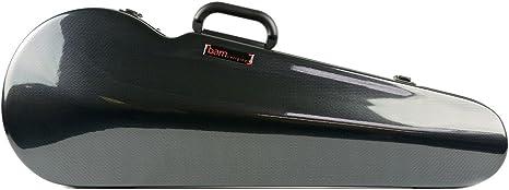 Bam Hightech contorneado – Funda para violín, color negro imitación de fibra de carbono: Amazon.es: Instrumentos musicales