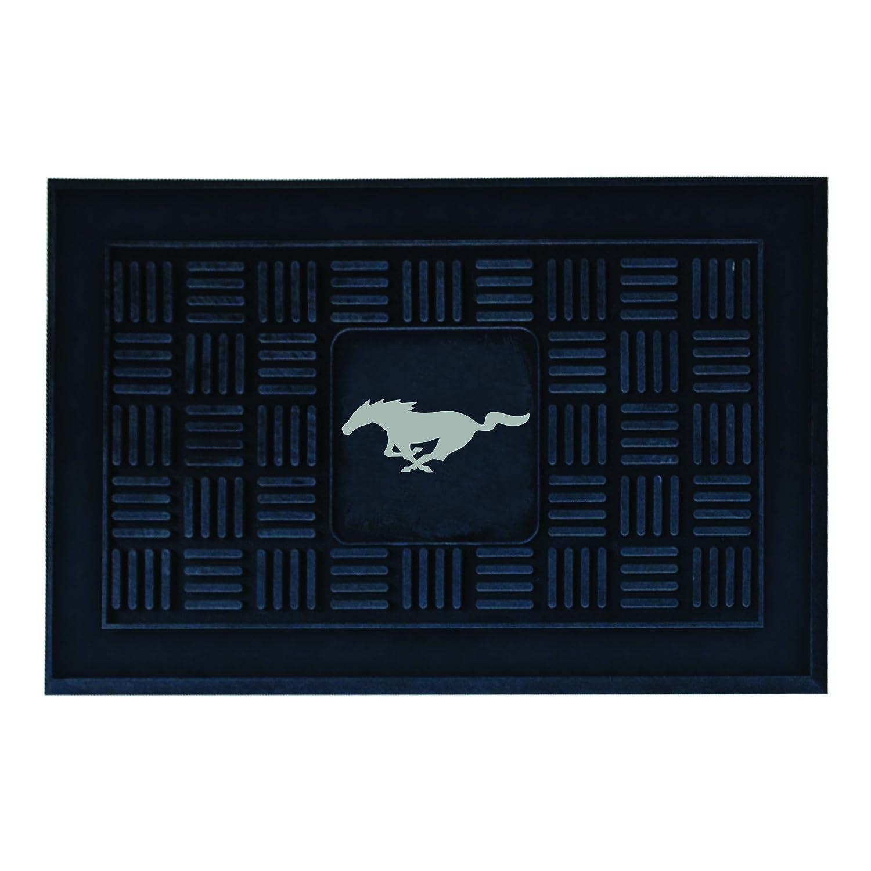 Mustang Fan Mats Horse with Shading Medallion Door mat 19 x 30