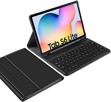 IVSO Español Ñ Teclado para Samsung Galaxy Tab S6 Lite, para Samsung Galaxy Tab S6 Lite Teclado, Funda con Removible Wireless Teclado con Ñ para ...