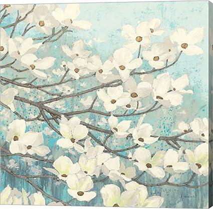 Amazoncom Dogwood Blossoms Ii By James Wiens Canvas Art Wall