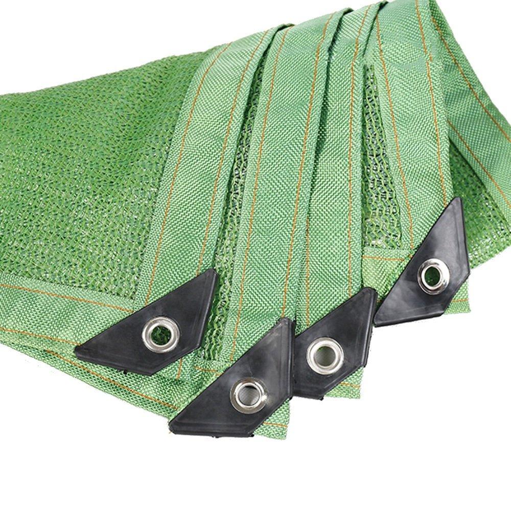 GJM Shop durabilità Rete Resistente UV del Panno verde Dell'ombra di Sunblock di 85% per La Pianta del Fiore del Giardino Peso Leggero (colore   verde, Dimensioni   3  8m)