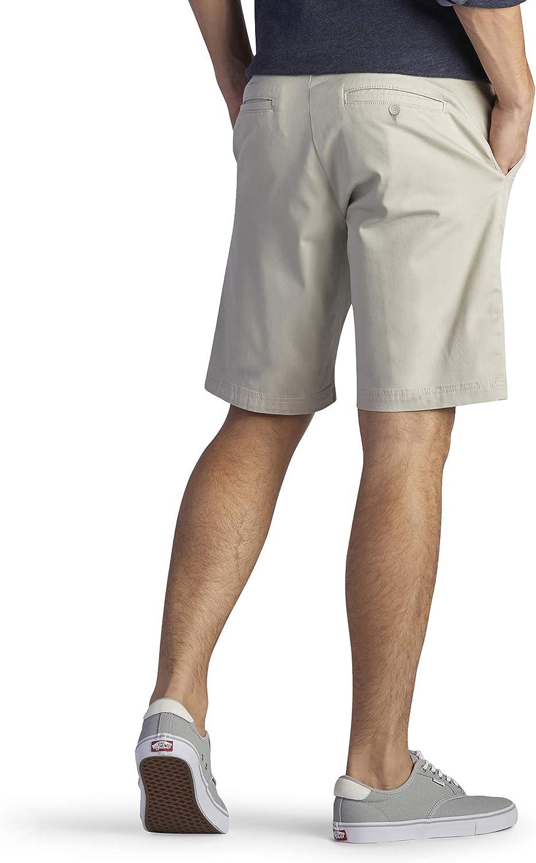 Lee Men's Flat Front Shorts Stone