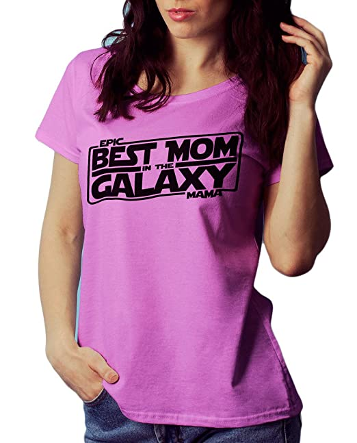 7e29b135 LeRage Shirts Best Mom in The Galaxy Star Wars V-Neck Women's Pink Small