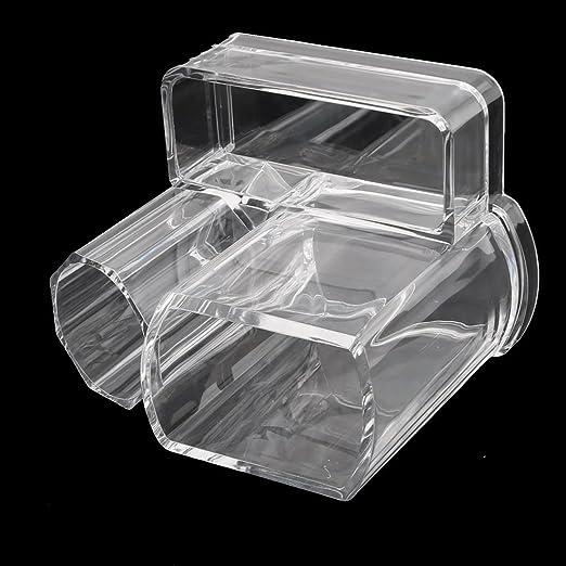 Amazon.com: eDealMax acrílico 3 ranuras del lápiz Labial cepillo de cejas Titular de la Pluma de la joyería Caja Organizador Claro: Home & Kitchen