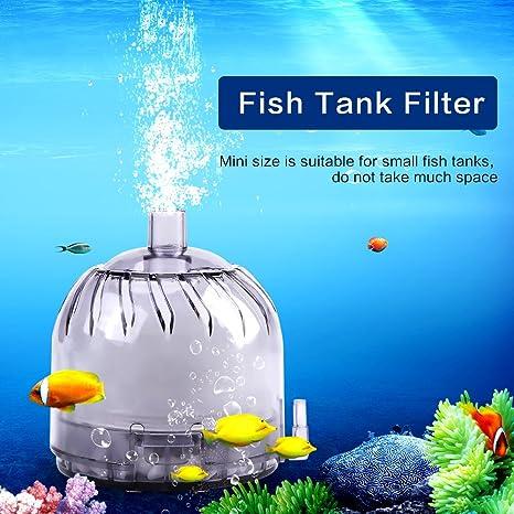 Filtro de Aire de Acuario Filtro de Carbón Activado de Esponja Bioquímica Tanque de Pescados Descargas de Oxígeno Conducidas de Aire Subacuático Tanque de ...