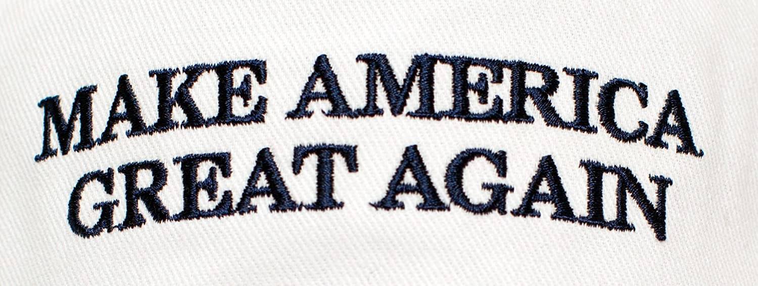 Make America Great Again Embroidered Donald Trump 2016 Cloth /& Braid Hat MAGA/_White