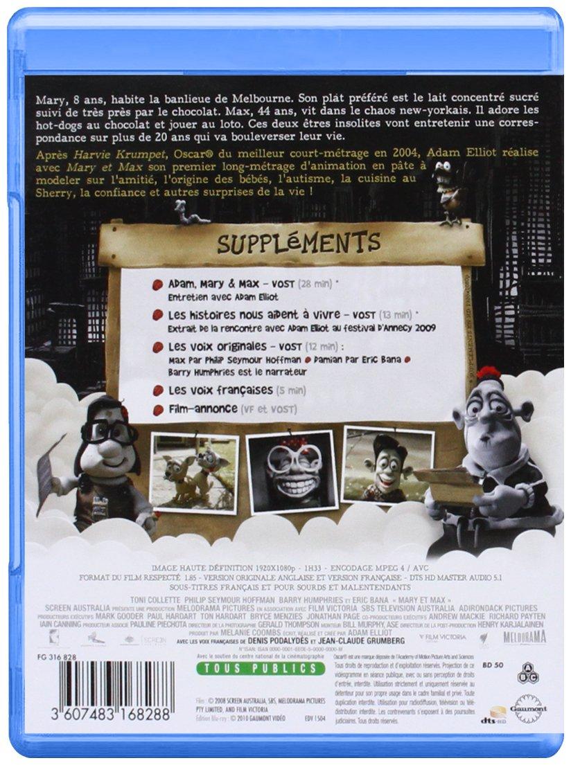 Mary Et Max Francia Blu Ray Amazon Es Adam Elliot Cine Y Series Tv