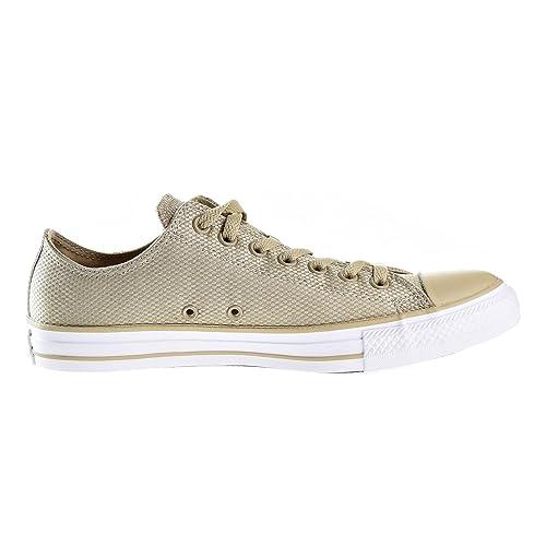 6b8e0003df4f Converse Chuck Taylor All Star OX Unisex Shoes Vintage Khaki White Brown  155419f (
