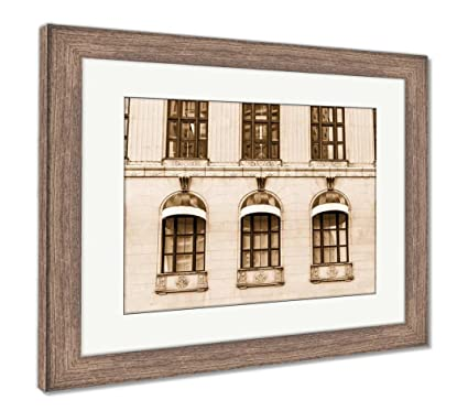 Amazon.com: Ashley Framed Prints Ten Green Windows in Old Stone ...