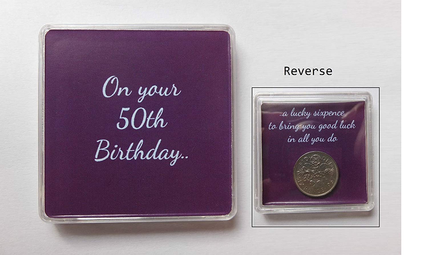 50th Birthday Gift - Lucky Sixpence Birthday Present Unique Gift The Sixpence Seller