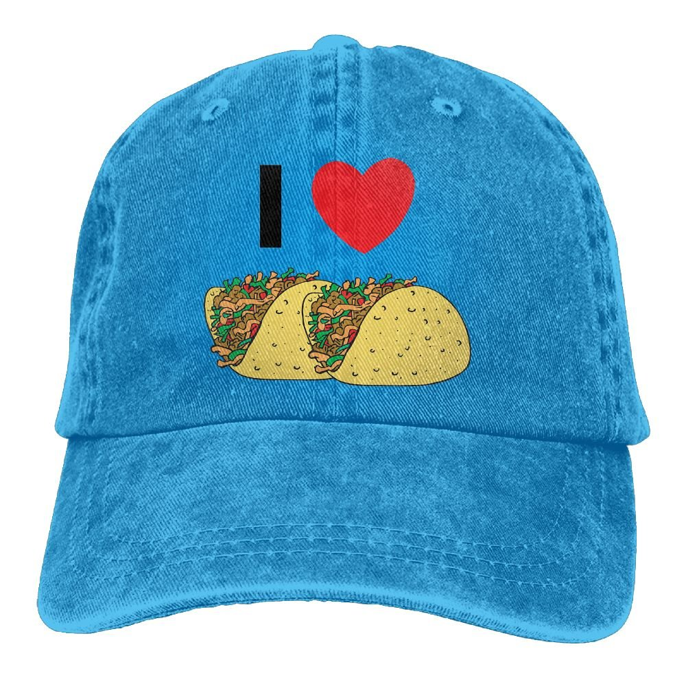 GqutiyulU I Love Tacos Adult Cowboy Hat RoyalBlue