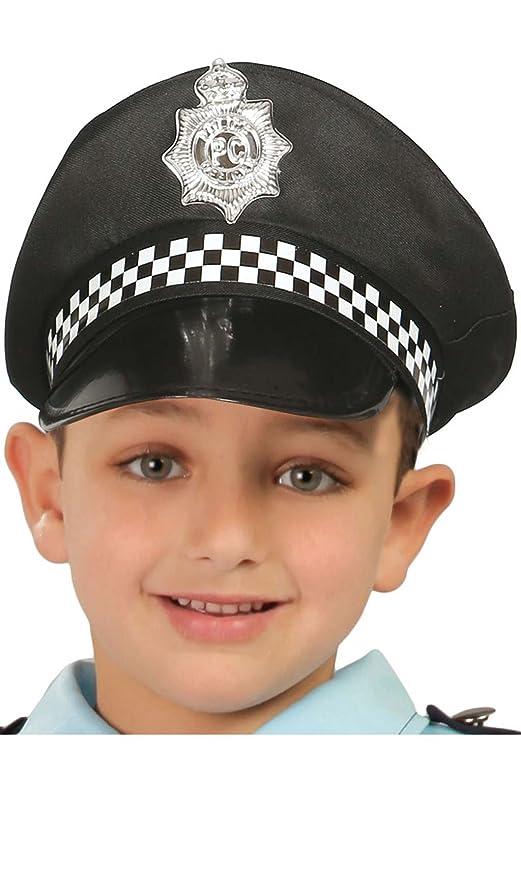 Gorra Policía Municipal infantil  Amazon.es  Juguetes y juegos c67d6fe4153