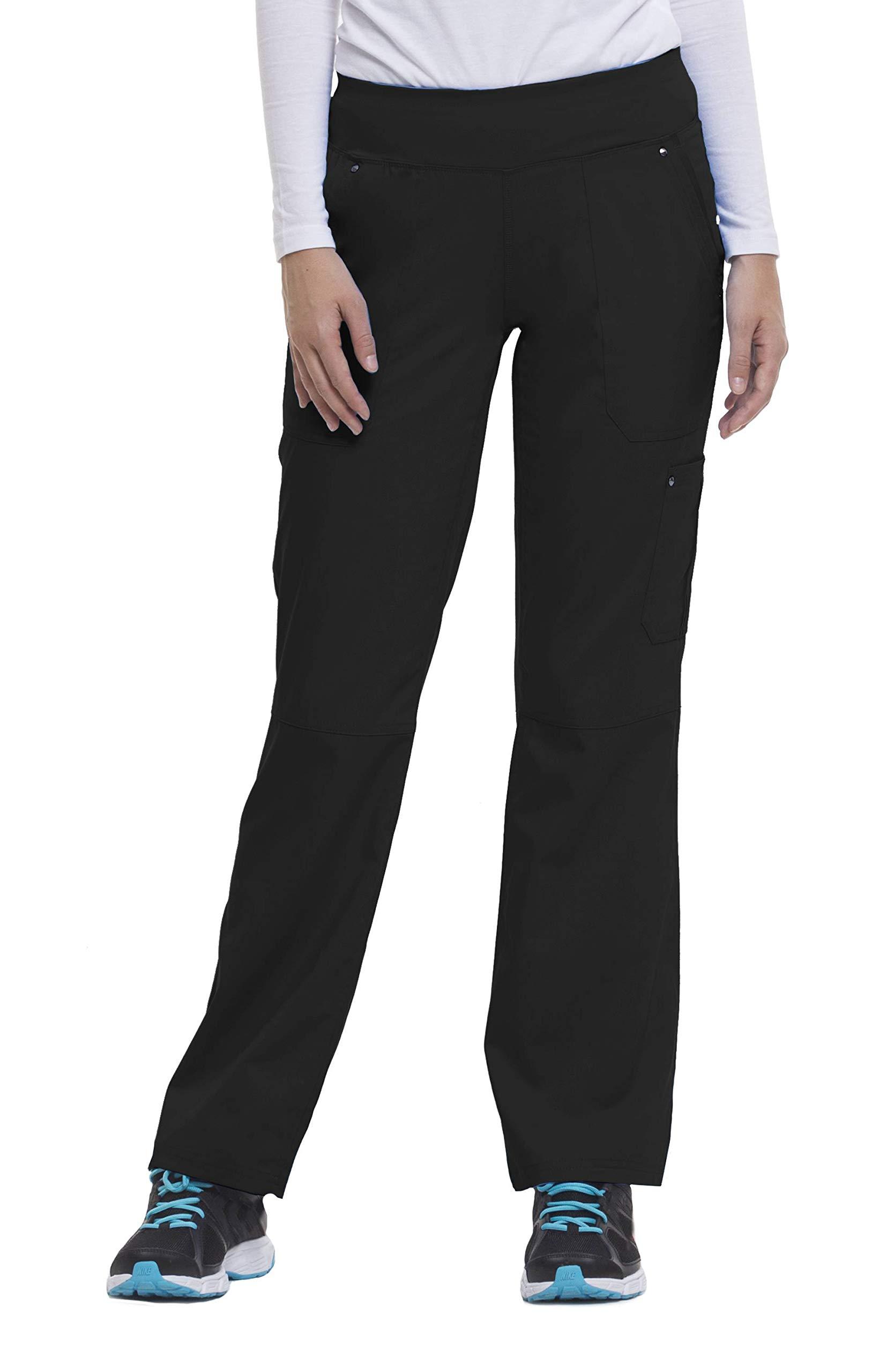 healing hands Purple Label Yoga Women's Tori 9133 5 Pocket Knit Waist Pant Scrubs- Black- Medium by healing hands