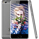 KEN XIN DA V7 4G LTE Smartphone Unlocked 5.0 Inch Android 6.0 16GB Dual SIM Quad Core 1.5 GHz MTK 6735 8MP Camera GSM Cellphone (Grey)