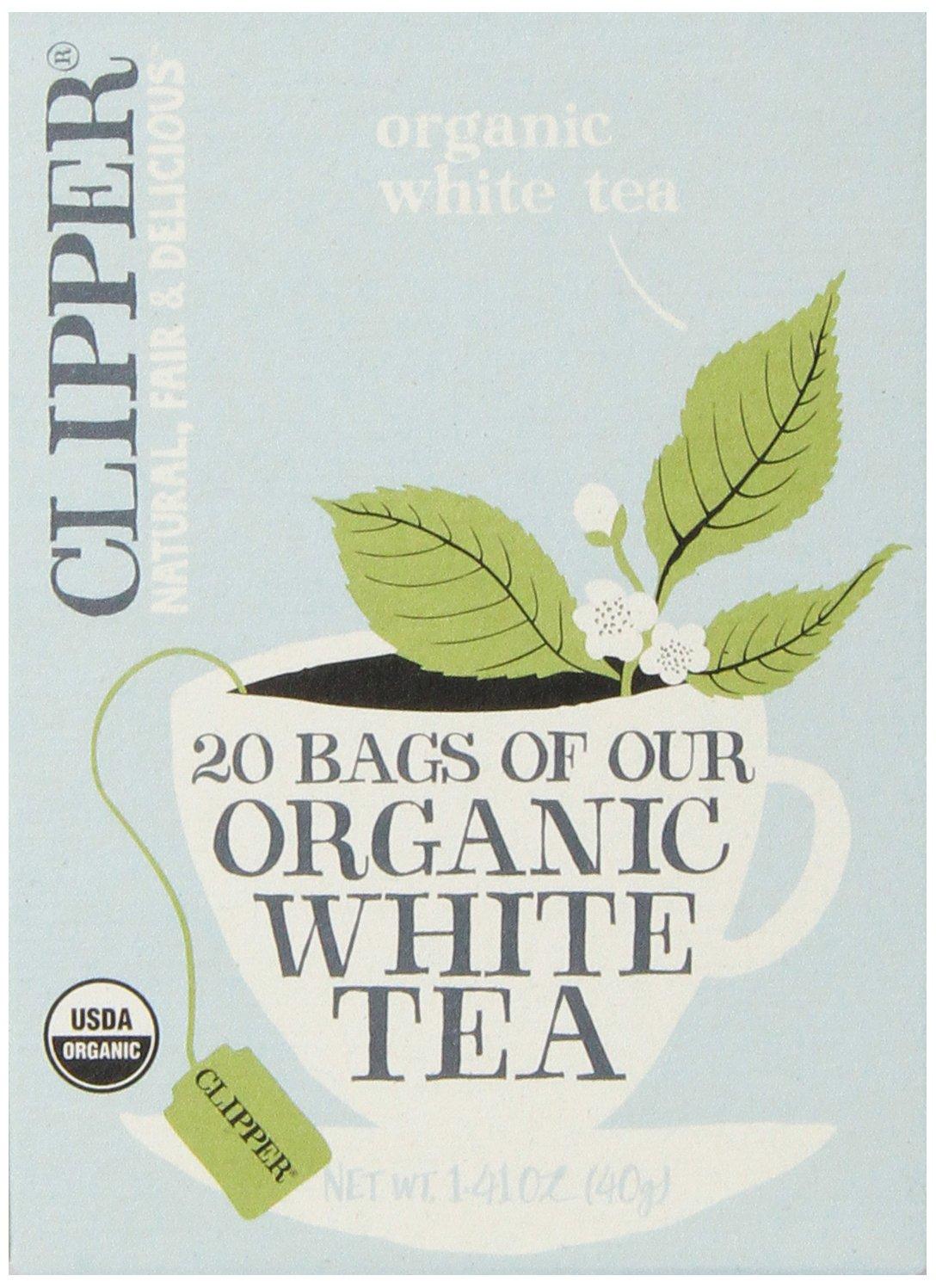Clipper Fair Trade Organic Tea, White, 20 Count (Pack of 6)