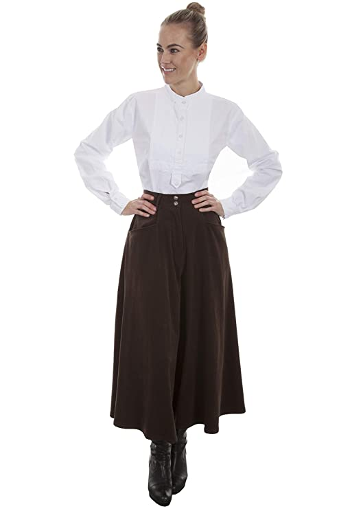 Steampunk Women's Pants, Leggings & Bloomers Scully Womens Sueded Riding Skirt $69.22 AT vintagedancer.com
