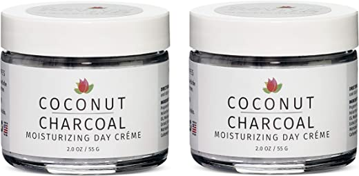Reviva Labs Coconut Charcoal Moisturizing Day Crème, 2 ounce (Pack of 2)