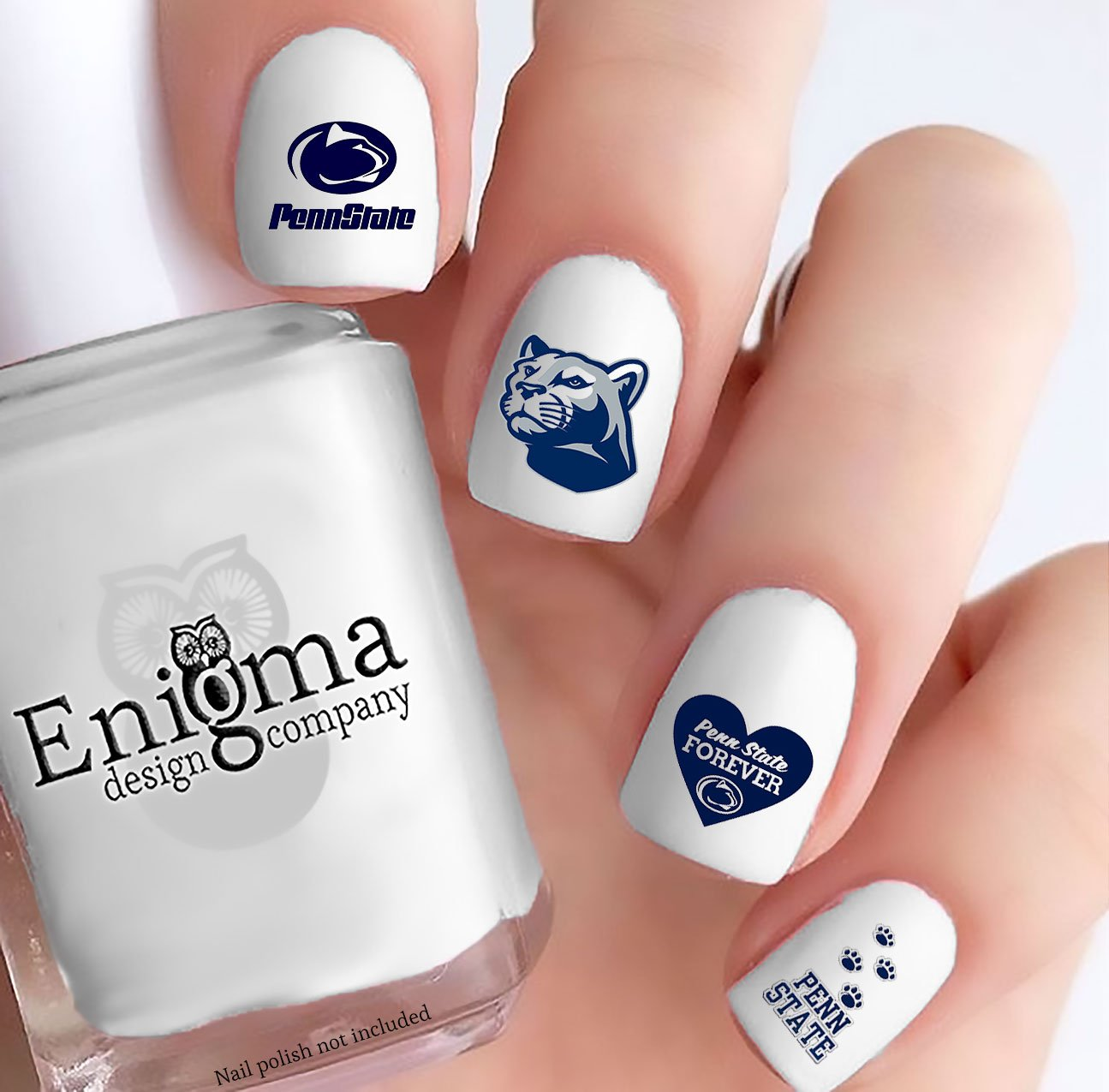 Amazon.com: Penn State Nittany Lions Nail Decals (Set of 50) (Clear Vinyl): Beauty
