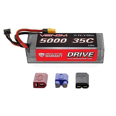 Venom 35C 3S 5000mAh 11.1V LiPo Hardcase Battery with Universal Plug 2.0 (Traxxas / Deans / EC3): Toys & Games