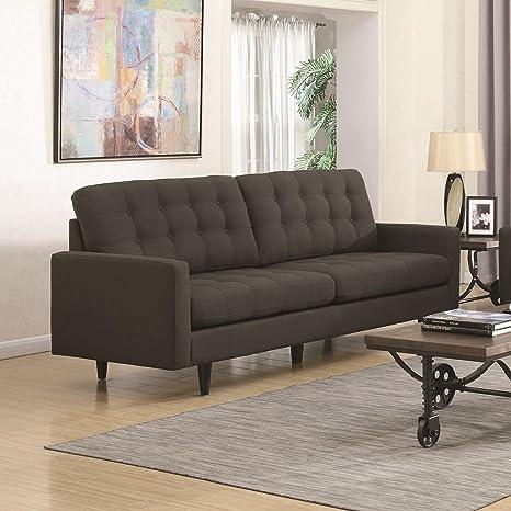 Coaster Home Furnishings Living Room Sofa, Charcoal/Dark Brown