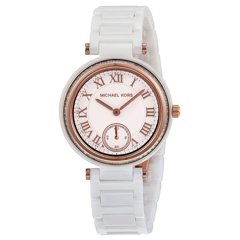 CDM product Michael Kors Women's MK6240 Mini Skylar Analog Display Analog Quartz White Watch big image
