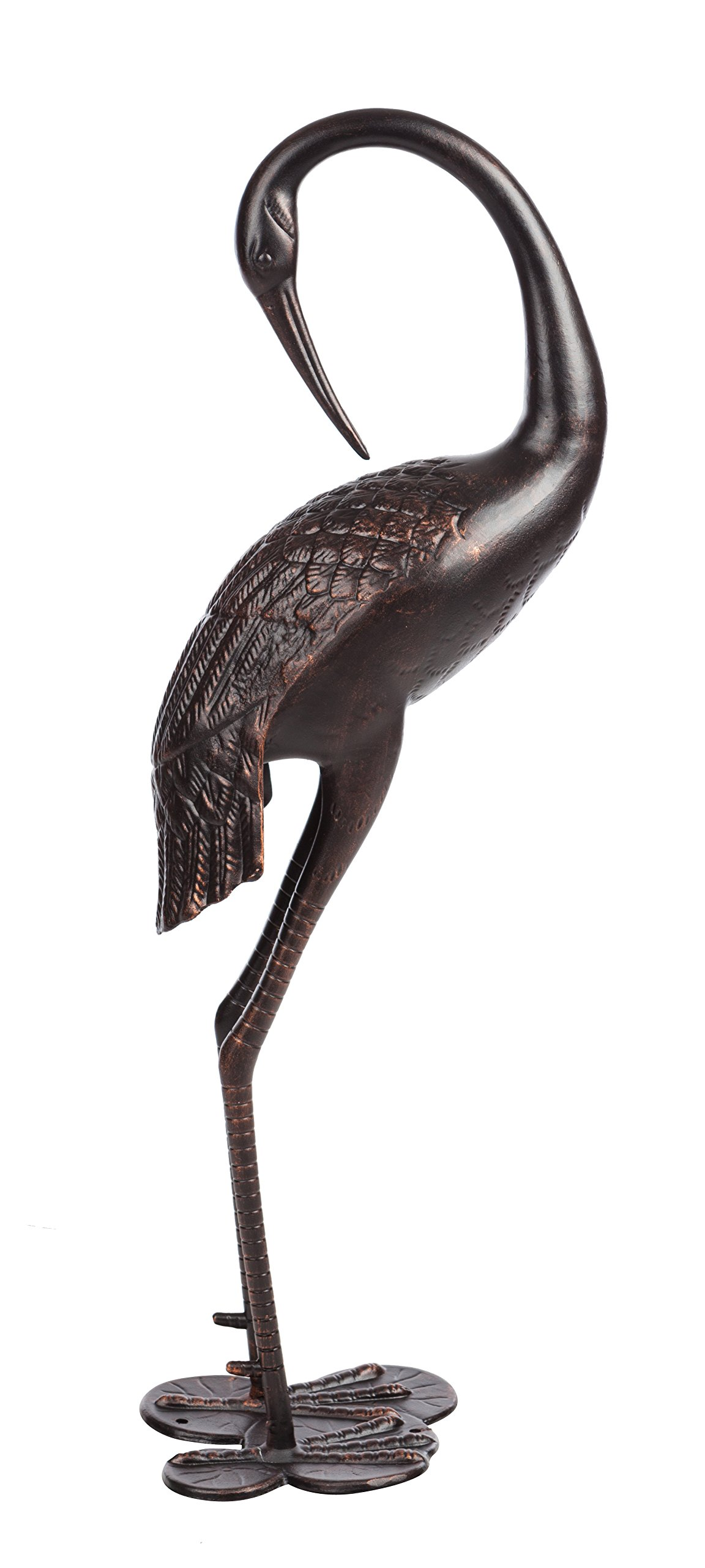 Patio Sense Cast Aluminum Female Crane, Antique Bronze Finish by Patio Sense