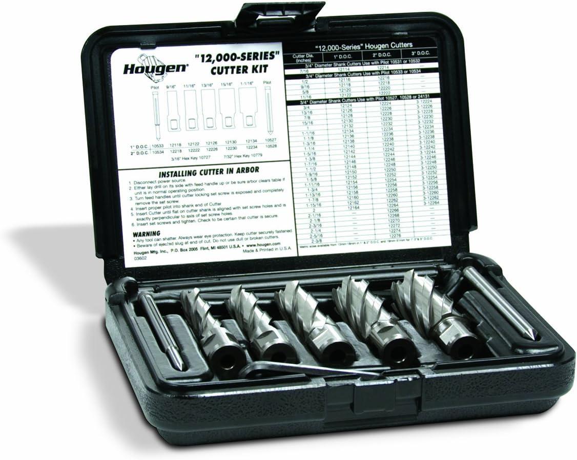 """Hougen 12002 9//16/"""",11//16/"""",13//16/"""",15//16/"""",1-1//16/"""" Rotabroach Cutters USA MADE"""