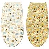 Summer Infant SwaddleMe Adjustable Infant Wrap 2 Count, Jungle Fox, Small